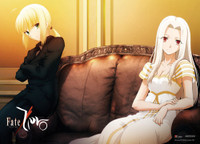 Fate/Zero - Saber and Irisviel Wall Scroll