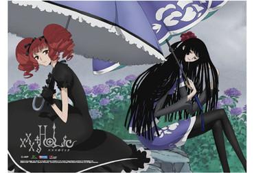 xxxHOLiC: Yuko & Ame-warashi with Umbrella Wall Scroll