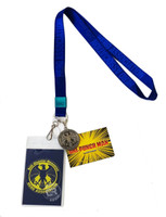 One-Punch Man Hero Association Lanyard ID Badge Holder & Metal Charm