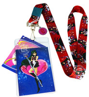 Sailor Moon: Sailor Pluto Lanyard with Badge ID Holder & Pluto Charm