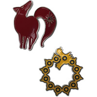 The Seven Deadly Sins: Fox's Sin of Greed & Dragon's Sin of Wrath Pins Set of 2