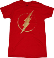DC Comics The Flash Lightning Bolt Symbol Red T-Shirt