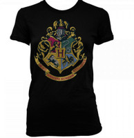 Harry Potter: Hogwarts Crest Black Junior T-Shirt