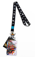One Piece: Pirate Flags Lanyard with ID Badge Holder & Straw Hat Charm