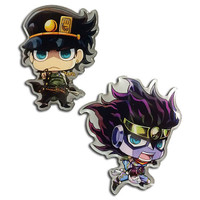 Jojo's Bizarre Adventure: Jotaro & Star Platinum Metal Pins Set of 2
