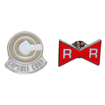 Dragon Ball Z: Capsule Corp. and Red Ribbon Metal Pin Set of 2