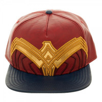 Wonder Woman Suit Up Applique Snapback Cap Hat