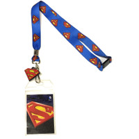 Superman: S-Shield Lanyard with ID Holder and Charm