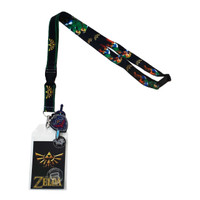 Legend of Zelda Lanyard with ID Badge Holder & Sword Shield Charm