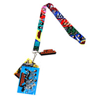 My Hero Academia Group Lanyard with ID Badge Holder & Logo Charm