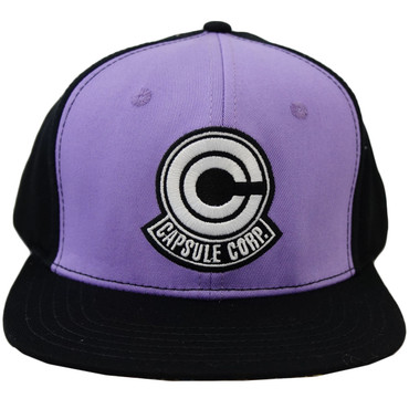 Dragon Ball Z  Capsule Corp Purple  Black Adjustable Cap - Circle Red 7455d70e727