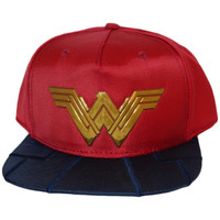 Wonder Woman Chrome Weld Logo Ballistic Nylon Snapback Cap Hat