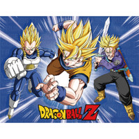 Dragon Ball Z: Super Saiyan Vegeta, Goku & Trunks Throw Blanket