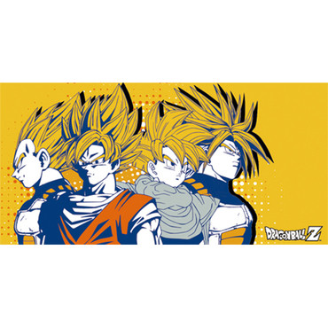 Dragon Ball Z: Super Saiyan Goku, Vegeta, Trunks, & Gohan Group Towel