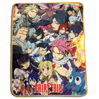 Fairy Tail: Big Group Image Sublimation Throw Blanket