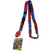 Marvel Spider-Man Lanyard with ID Badge Holder and Charm