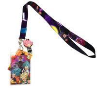 Dragon Ball Super Goku Black & Rose Lanyard with ID Holder & PVC Charm