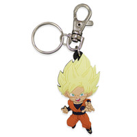 Dragon Ball Super: SD Super Saiyan Goku PVC Keychain