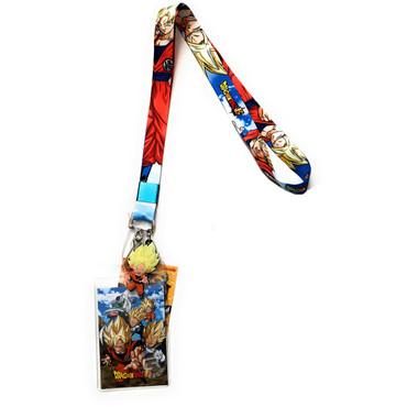 Dragon Ball Super: Super Saiyan SS Goku Lanyard with ID Holder & Charm