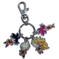 Dragon Ball Super: SD Goku Forms Metal Keychain