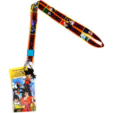 Dragon Ball Super: Group Lanyard with ID Badge Holder & Goku Charm