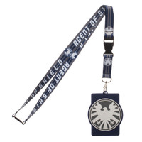 Marvel Agent of Shield Lanyard with Rubber ID Badge Holder