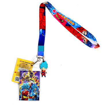 Dragon Ball Super: SSGSS Blue Goku Whis Gi Lanyard w/ ID Holder & Charm