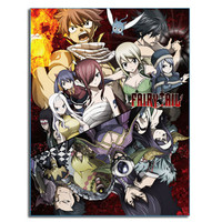 Fairy Tail Season 7 Big Group Image Sublimation Throw Blanket