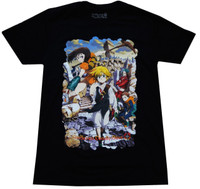 The Seven Deadly Sins: Meliodas Key Visual Men's Black T-Shirt