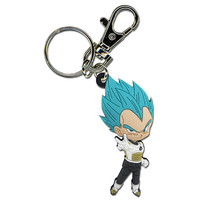 Dragon Ball Super: Super Saiyan Blue Vegeta Pose PVC Keychain