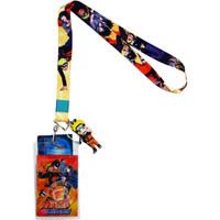 Naruto Shippuden: Naruto & Sasuke Lanyard w/ ID Badge Holder & Charm