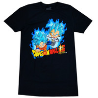 Dragon Ball Super SSGS Super Saiyan Blue Goku & Vegeta Men's T-Shirt