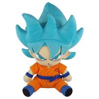 Dragon Ball Super: SSGSS Super Saiyan Blue Goku Sitting Pose Plush