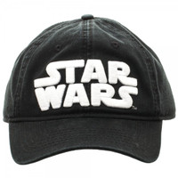 Star Wars Logo Black Adjustable Cap