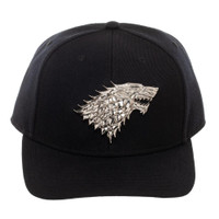 Game of Thrones House Stark Curved Bill Snapback Cap Hat