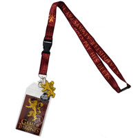 Game of Thrones House Lannister Lanyard with Sticker ID Badge Holder & Charm