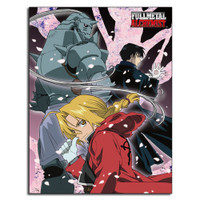 Fullmetal Alchemist: Ed, Al, & Roy Group Sublimation Throw Blanket