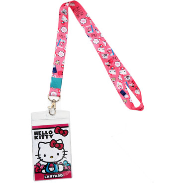 Hello Kitty Pink Lanyard with ID Badge Holder