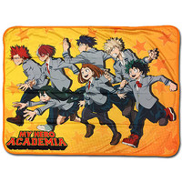 My Hero Academia: UA High Class 1-A Students Run Sublimation Throw Blanket