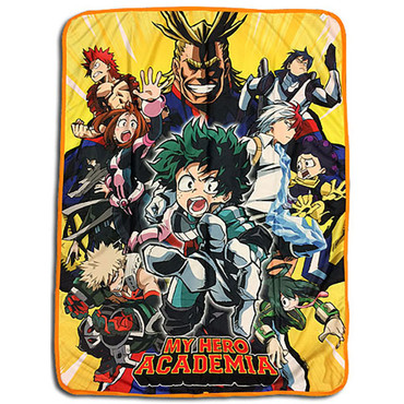 My Hero Academia Heroes Big Group Sublimation Throw