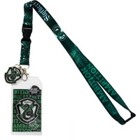 Harry Potter Slytherin Traits Lanyard with ID Badge Holder & Metal Charm