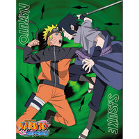 Naruto Shippuden: Naruto vs Sasuke Sublimation Throw Blanket