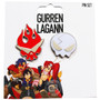 Gurren Lagann: Dai Gurren & Yoko Skull Metal Pins Set of 2