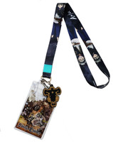 Black Clover: Asta Lanyard with ID Badge Holder & PVC Black Bull Charm