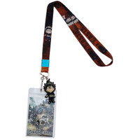 Black Clover: SD Asta Lanyard with ID Badge Holder & PVC Asta Charm