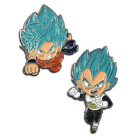 Dragon Ball Super: SSGSS Goku & SSGSS Vegeta Pins Set of 2