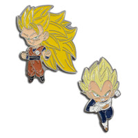 Dragon Ball Super: SS3 Goku & Super Saiyan Vegeta Pins Set of 2