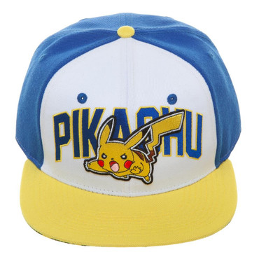 Pokemon: Pikachu Color Block Snapback Cap Hat