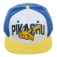Pokemon: Pikachu Color Block Snapback Cap Hat