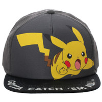 Pokemon Pikachu Gotta Catch 'Em All! Youth Snapback Cap Hat